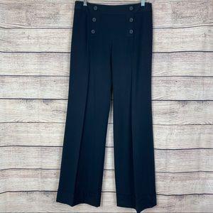 LOFT Marisa Black Wide Leg Sailor Pants Size 6